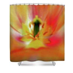 Inner Self Vertical Shower Curtain by Scott Mahon