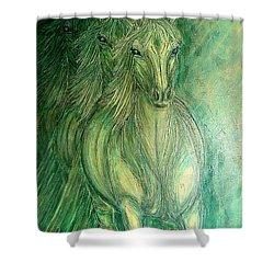 Inner Spirit Shower Curtain by Kim Jones