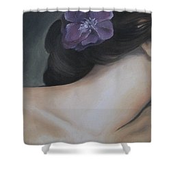 Shower Curtain featuring the painting Innocence by Jindra Noewi