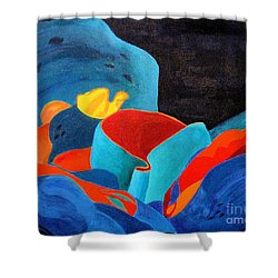 Inorganic Incandescence Shower Curtain