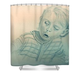 Inquisitive Child Shower Curtain