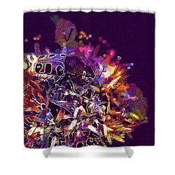 Shower Curtain featuring the digital art Insect Bug Bee Beetle  by PixBreak Art