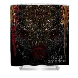 Shower Curtain featuring the digital art  Insecticidal  by Reed Novotny