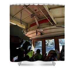 Inside A Cable Car Shower Curtain