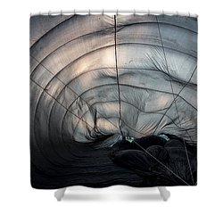 Inside A Hot Air Balloon Shower Curtain