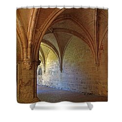 Inside A Monastery Dordogne France  Shower Curtain by Dave Mills