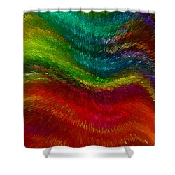 Inside A Rainbow Shower Curtain by Stuart Turnbull