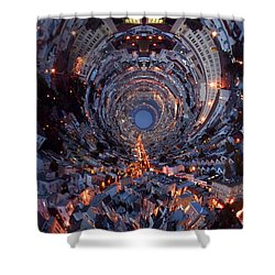 Inside A Space Station To The Galaxy Far Shower Curtain