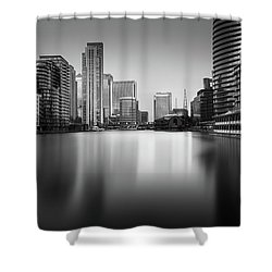Inside Canary Wharf Shower Curtain by Ivo Kerssemakers