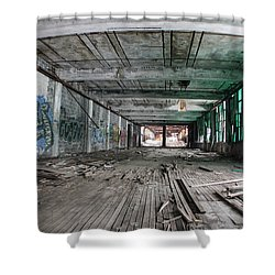 Inside Detroit Packard Plant  Shower Curtain by John McGraw