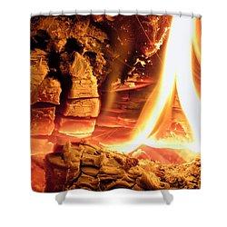 Inside Fire Shower Curtain