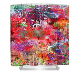 Inside Her Head Shower Curtain by Claire Bull