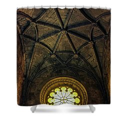 Shower Curtain featuring the photograph Inside Jeronimos by Carlos Caetano