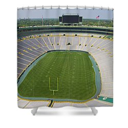 Shower Curtain featuring the photograph Inside Lambeau Field by Joel Witmeyer