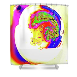 Shower Curtain featuring the photograph Inside Out Easter Egg by Onyonet  Photo Studios