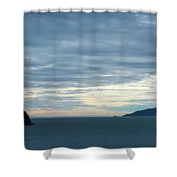 Inside Passage Sunset Shower Curtain