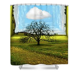 Inside The Box Shower Curtain