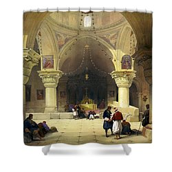Inside The Church Of The Holy Sepulchre In Jerusalem Shower Curtain