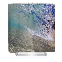 Inside The Curl Big Beach Maui Wave Shower Curtain