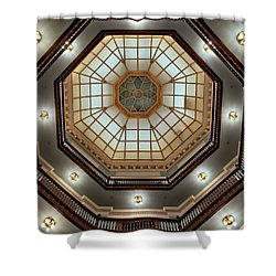 Inside The Dome Shower Curtain by Mark Dodd