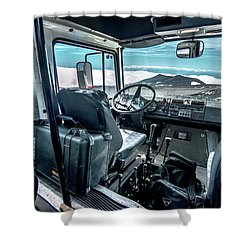 Inside The Etna Tour Unimog Shower Curtain