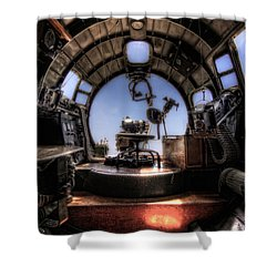 Inside The Flying Fortress Shower Curtain