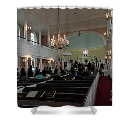 Inside The S. Georges Church Episcopal Anglican Shower Curtain