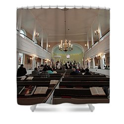 Inside The St. Georges Episcopal Anglican Church Shower Curtain