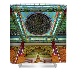 Inside Thean Hou Temple Shower Curtain by David Gn