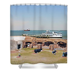 Inside View Of Fort Sumter Shower Curtain