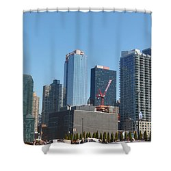 Insomnia City Shower Curtain