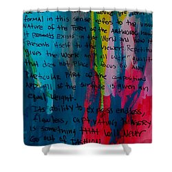 Inspiration From Warhol Shower Curtain
