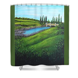 Inspiration In Mountain House Shower Curtain