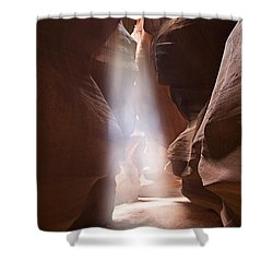 Inspiration Shower Curtain by Mike  Dawson