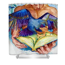 Inspiration Spreads Its Wings Shower Curtain