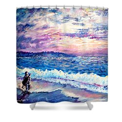 Inspiration-the Musician Shower Curtain by Shana Rowe Jackson