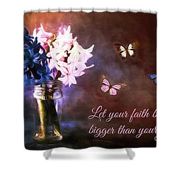 Inspirational Flower Art Shower Curtain