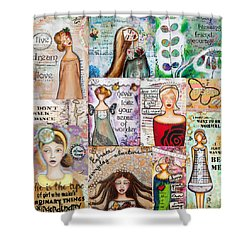 Inspirational Mix Shower Curtain by Stanka Vukelic
