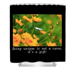 Inspirational-being Unique Is A Gift Shower Curtain