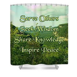 Inspire Peace Shower Curtain