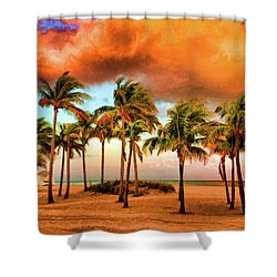 Crandon Park Beach Shower Curtain