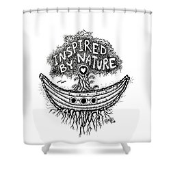 Inspired By Nature Tree Drawing Shower Curtain