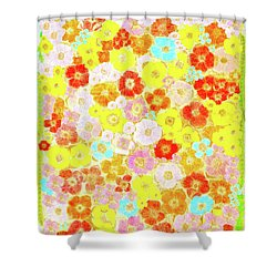 Shower Curtain featuring the painting Inspired By Persimmon by Lorna Maza