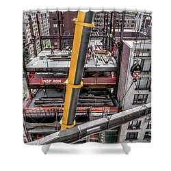 Inspiron 82nd Street Shower Curtain