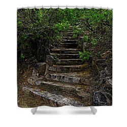 Shower Curtain featuring the photograph Instep With Nature V53 by Mark Myhaver