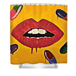 Intake Creativity  Shower Curtain by Miriam Moran
