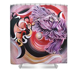 Shower Curtain featuring the painting Integrated Force by Sigrid Tune