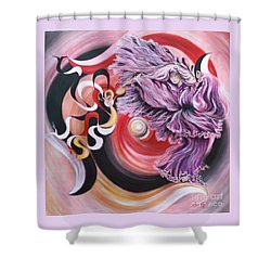 Gentle Spirit  Integrated Force Shower Curtain