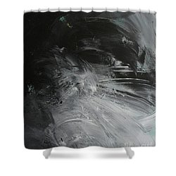 Shower Curtain featuring the painting Intelligent Answers by Robin Maria Pedrero