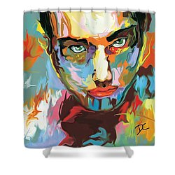 Shower Curtain featuring the digital art Intense Face 2 by Darren Cannell